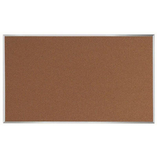 Our Natural Pebble Grain Cork Bulletin Board with Aluminum Frame - 36
