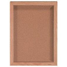 1 Door Souvenir and Memorabilia Display Case with Oak Finish - 24