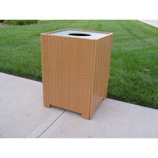 Standard Square 32 Gallon Recycled Plastic Receptacle
