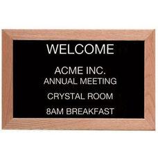 Framed Letter Board Message Center with Oak Frame
