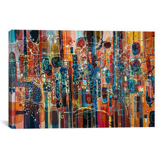 Wild Red by Rebecca Moy Gallery Wrapped Canvas Artwork