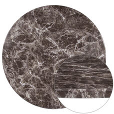 "30"" Round Gray Marble Laminate Table Top"