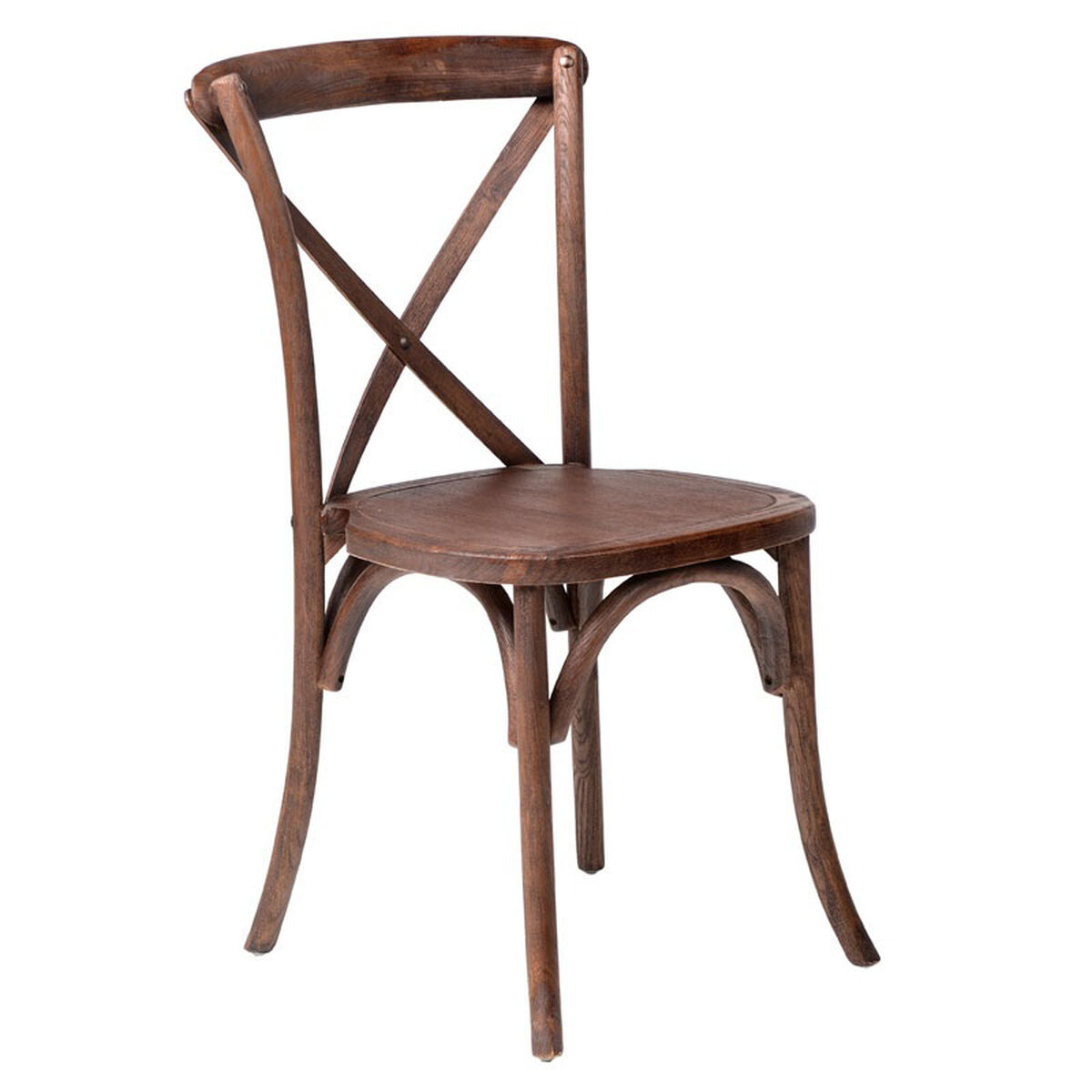 Our Rustic Sonoma Solid Wood Cross Back Stackable Dining Chair Marian Fruitwood Is On