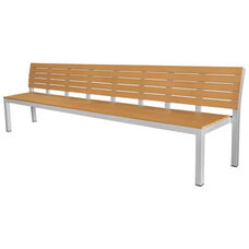 Vienna Highback 5 Seater Bench - Teak