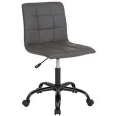 Sorrento Home and Office Task Chair in Gray Leather
