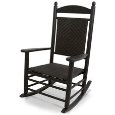 POLYWOOD® Jefferson Woven Rocker - Black Frame / Cahaba