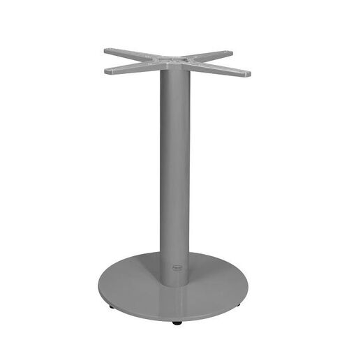 Our Verona Aluminum Dining Table with Small Round Base - Silver Powder Coat is on sale now.