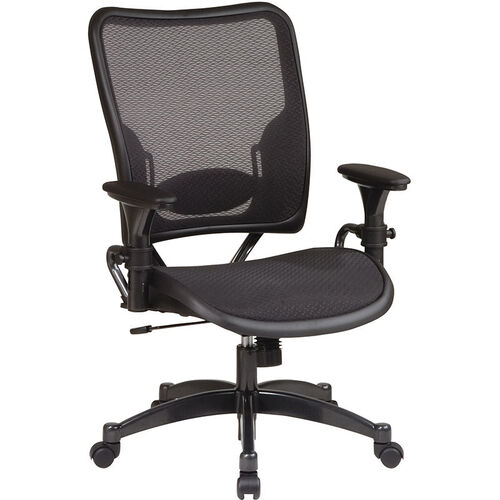 Our Space Air Grid Series Professional Air Grid Chair with Gun Metal Finish Accents - Black is on sale now.