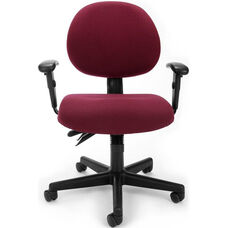 24 Hour Task Chair with Arms - Burgundy