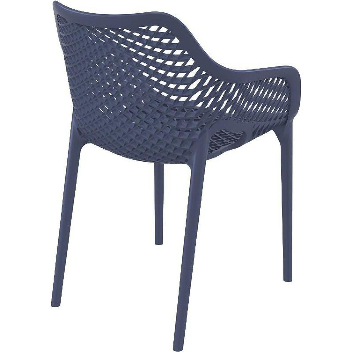 Gray Resin Outdoor Dining Chair Isp007 Dgr