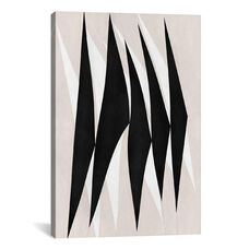Modern Art - Zebra Print Tribal Paint by 5by5collective Gallery Wrapped Canvas Artwork