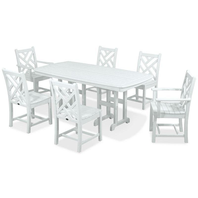 ... Our POLYWOODu0026reg; Chippendale 7 Piece Dining Set   White Is On Sale ...