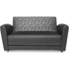InterPlay Sofa - Nickle and Black