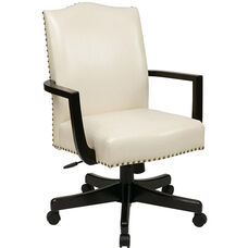 Inspired By Bassett Morgan Eco Leather Managers Chair - Cream