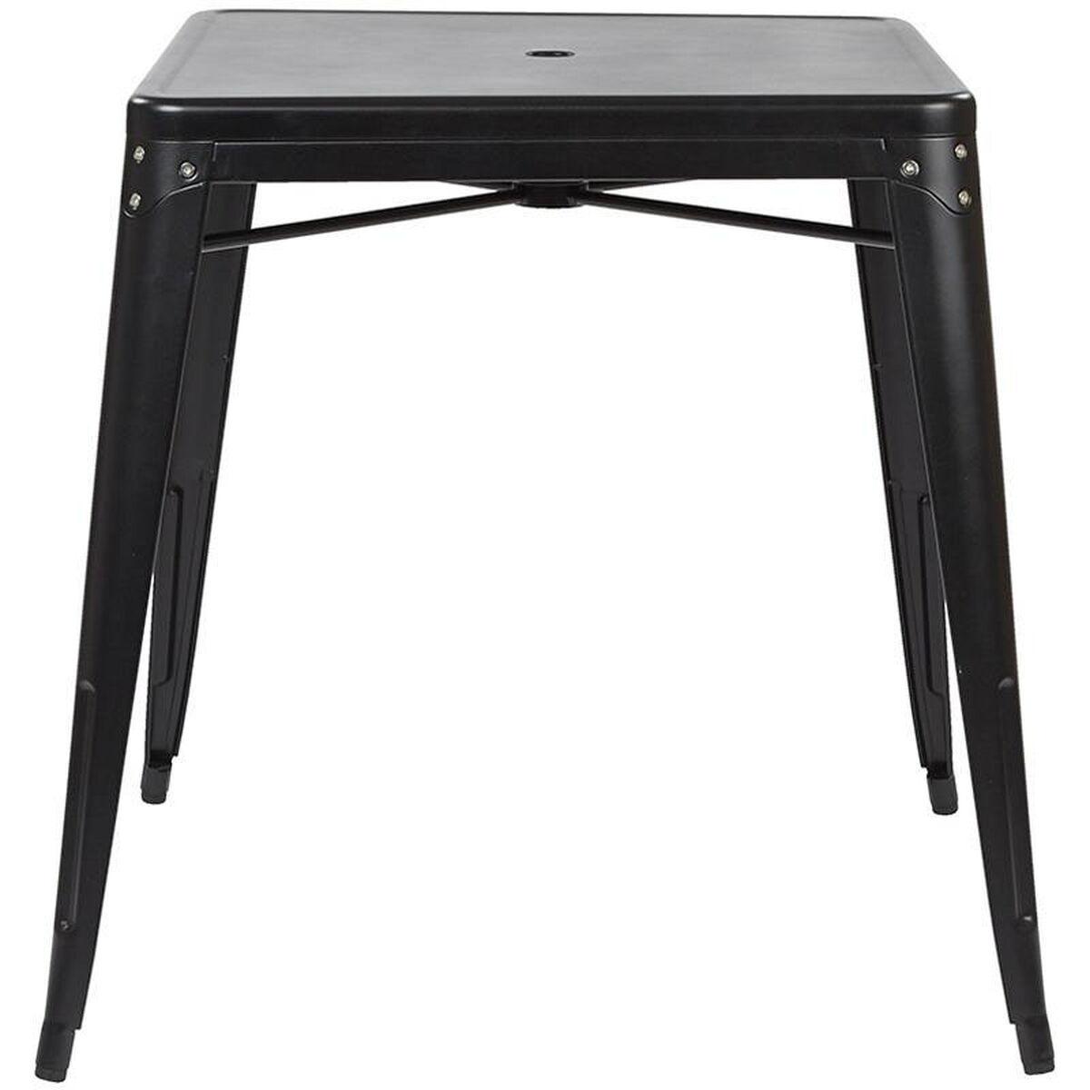 Matte Black Metal Dining Table Brw432u C230