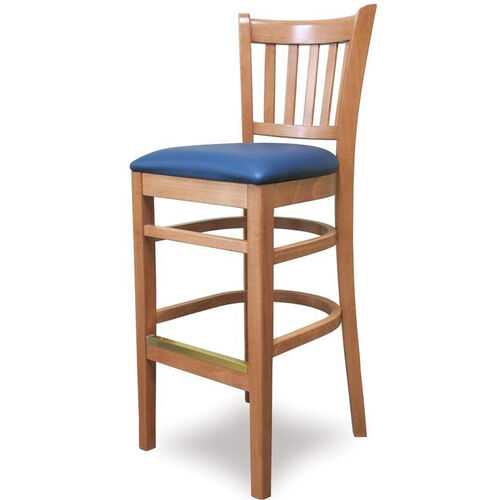 Our Grill Vertical Back Wood Bar Stool - Grade 1 Upholstered Seat is on sale now.