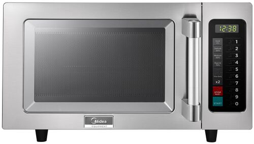 Our Midea Stainless Steel 1000 Watt Commercial Grade Microwave with Push Button Timer is on sale now.