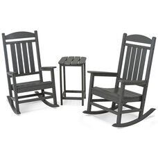 POLYWOOD® Presidential Rocker 3-Piece Set - Slate Grey