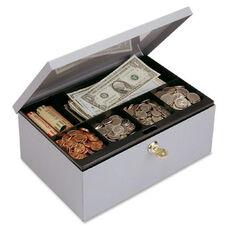 Mmf Industries Heavy-Gauge Steel Cash Box withLock
