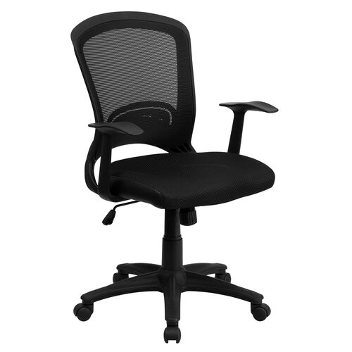 Our Mid-Back Designer Black Mesh Swivel Task Office Chair with Arms is on sale now.
