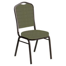 Embroidered Crown Back Banquet Chair in Georgetown Alpine Fabric - Gold Vein Frame