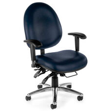 24 Hour Big & Tall Anti-Microbial and Anti-Bacterial Vinyl Task Chair - Navy