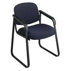 Work Smart Deluxe Padded Sled Base Arm Chair with Designer Plastic Shell Back
