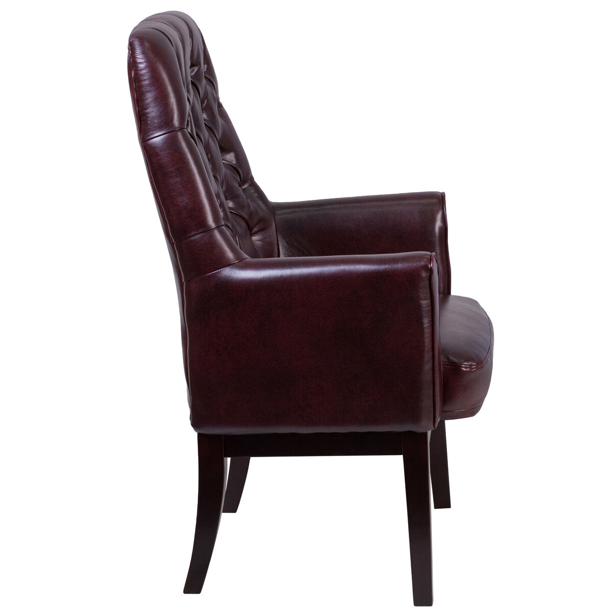 Burgundy Leather Side Chair Bt 444 Sd By Gg