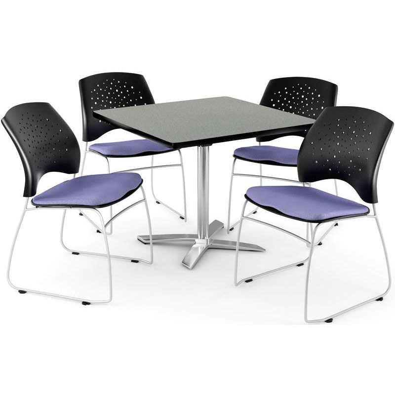 ... Our Multi Purpose 42u0027u0027 Square Flip Top Table With 4 Star Stack