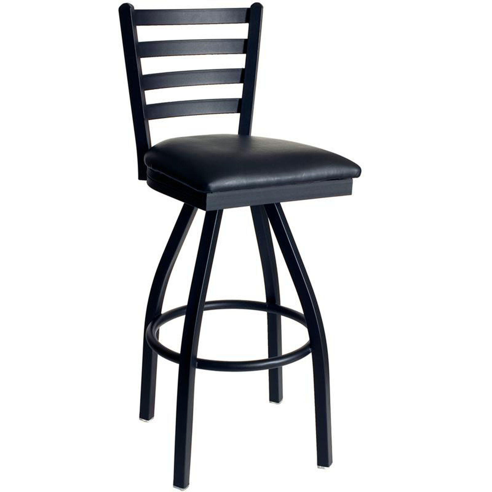 Lima Ladderback Swivel Barstool Restaurantfurniture4less Com