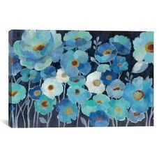 Indigo Flowers I by Silvia Vassileva Gallery Wrapped Canvas Artwork