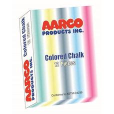 Twelve Piece Assorted Colored Chalk Set - 12 Boxes