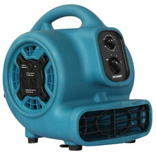 P-230AT Mini Air Mover with Built-in Power Outlets for Daisy Chain Capability and 1/5 HP - Blue