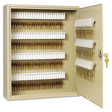 SteelMaster® Uni-Tag Key Cabinet - 200-Key - Steel - Sand - 16 1/2 x 4 7/8 x 20 1/8