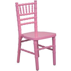 Advantage Kids Pink Wood Chiavari Chair