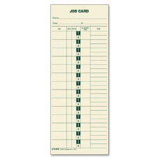 Tops Job Costing Time Cards - Pack Of 500