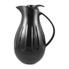 Genuine Joe Double Wall Swirl Carafe - 1.3Ltr. - Black