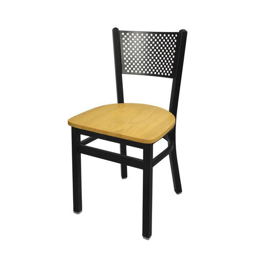 Our Polk Metal Perforated Back Chair - Natural Wood Seat is on sale now.