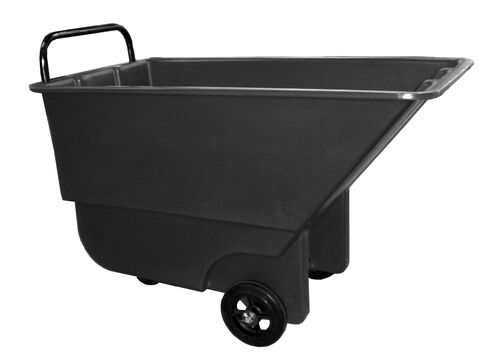 "Our Bayhead 5/8 Cubic Yard Light Duty Tilt Truck 600lb Capacity - 3"" casters, Black is on sale now."
