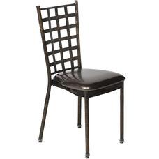 500 lb. Max Natalie Chocolate Chair with Chocolate Vinyl Cushion