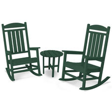 POLYWOOD® Presidential 3-Pc. Rocker Set - Green