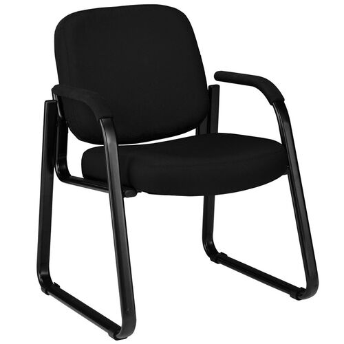 Our Guest and Reception Chair with Arms - Black is on sale now.