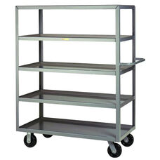Welded Truck with Push Handle and 5 Lipped Shelves