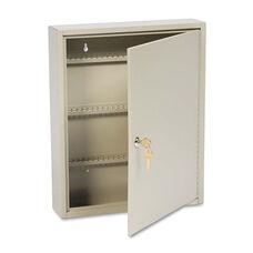 SteelMaster® Uni-Tag Key Cabinet - 110-Key - Steel - Sand - 14 x 3 1/8 x 17 1/8