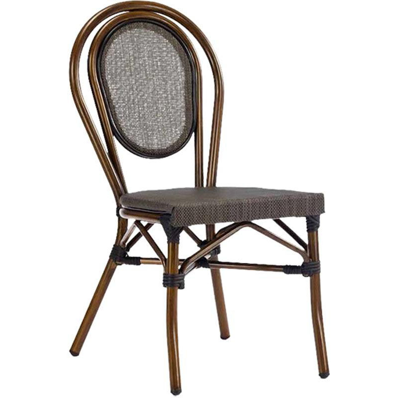 ... Our Magellan Outdoor Cast Aluminum Armless Side Chair With Bamboo  Finish Is On Sale Now.
