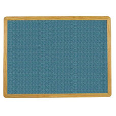 2700 Series Tackboard with Flat Wood Face Frame - Designer Fabric - 96