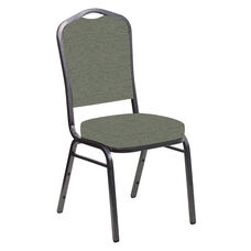 Crown Back Banquet Chair in Ravine Thyme Fabric - Silver Vein Frame