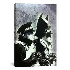 Batman and The Police by Banksy Gallery Wrapped Canvas Artwork