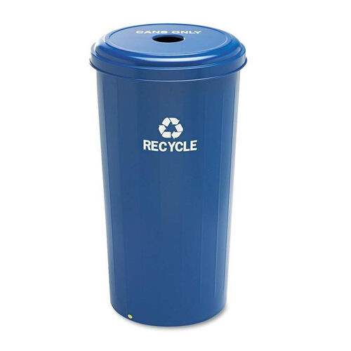 Our Safco® Tall Recycling Receptacle for Cans - Round - Steel - 20gal - Recycling Blue is on sale now.