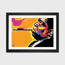 The Notorious B.I.G. by TECHNODROME1 Artwork on Fine Art Paper with Black Matte Hardwood Frame - 32
